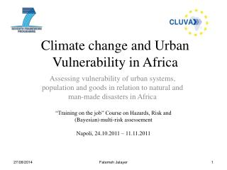 Climate change and Urban Vulnerability in Africa