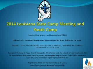 2014 Louisiana State Camp Meeting and Youth Camp