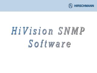HiVision SNMP  Software