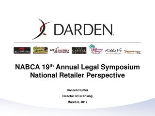 NABCA 19 th  Annual Legal Symposium National Retailer Perspective