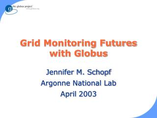 Grid Monitoring Futures with Globus