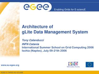 Architecture of  gLite Data Management System