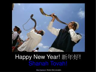 Happy New Year!  新年好 !  Shanah Tovah!