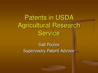 Patents in USDA Agricultural Research Service