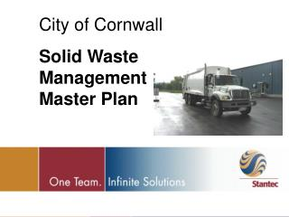 City of Cornwall Solid Waste Management Master Plan