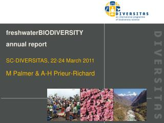 freshwaterBIODIVERSITY annual report