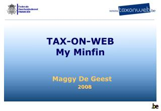 TAX-ON-WEB My Minfin