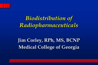 Biodistribution of Radiopharmaceuticals