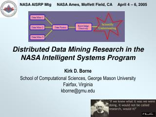 Distributed Data Mining Research in the NASA Intelligent Systems Program