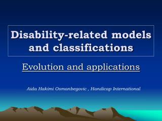 Disability-related models and classifications