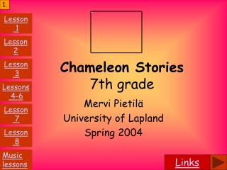 Chameleon Stories 7th grade