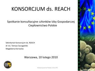 KONSORCJUM ds. REACH