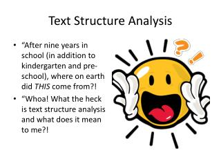 Text Structure Analysis