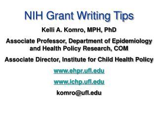 NIH Grant Writing Tips
