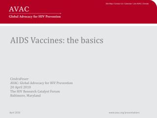 AIDS Vaccine Presentation Overview
