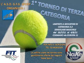 1° TORNEO  DI  TERZA CATEGORIA