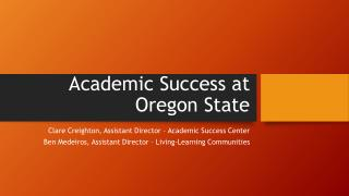Academic Success at Oregon State