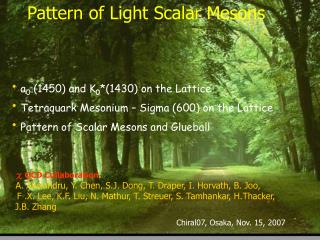 Pattern of Light Scalar Mesons