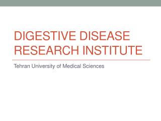 Digestive Disease Research Institute