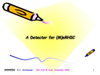 A Detector for ( M)eRHIC