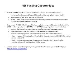 NSF Funding Opportunities