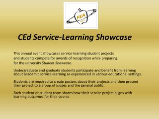 CEd Service-Learning Showcase