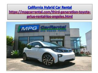 California Hybrid Car Rental