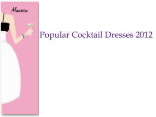 Popular Cocktail Dress 2012