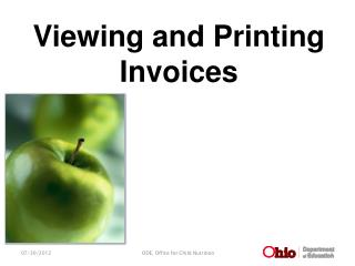 Viewing and Printing Invoices