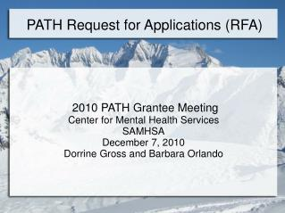 PATH Request for Applications (RFA)