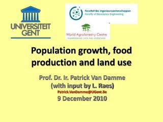 Population growth, food production and land use