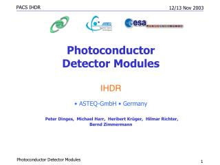 Photoconductor  Detector Modules IHDR