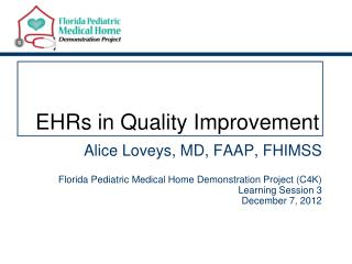 EHRs in Quality Improvement
