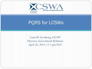 PQRS for LCSWs
