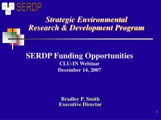Strategic Environmental Research & Development Program