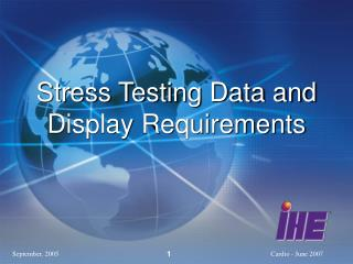 Stress Testing Data and Display Requirements