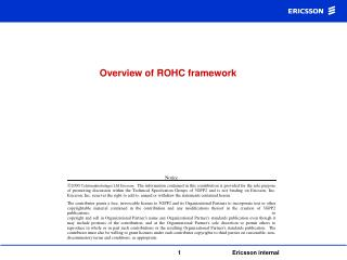 Overview of ROHC framework