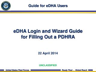 Guide for eDHA Users