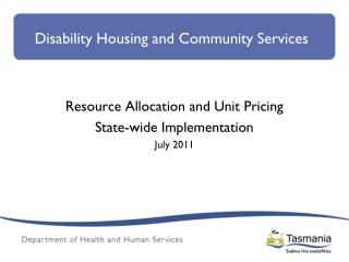 Disability Housing and Community Services