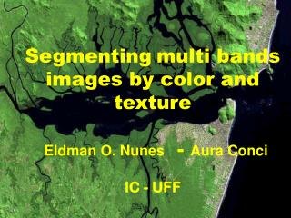 Segmenting multi bands images by color and texture Eldman O. Nunes   -  Aura Conci  IC - UFF