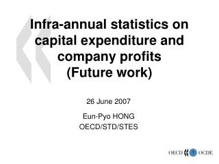 Infra-annual statistics on capital expenditure and company profits (Future work)