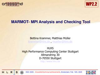 MARMOT- MPI Analysis and Checking Tool