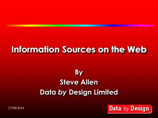 Information Sources on the Web