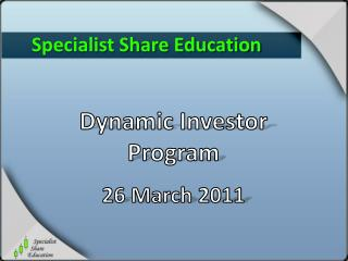 Specialist Share Education