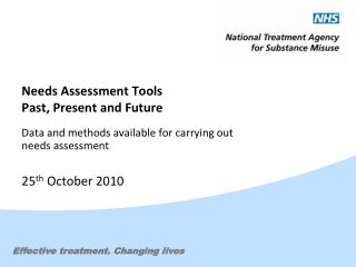 Needs Assessment Tools  Past, Present and Future