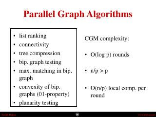 Parallel Graph Algorithms