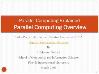 Parallel Computing Explained Parallel Computing Overview