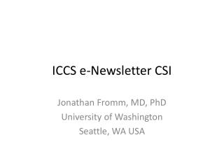 ICCS e-Newsletter CSI