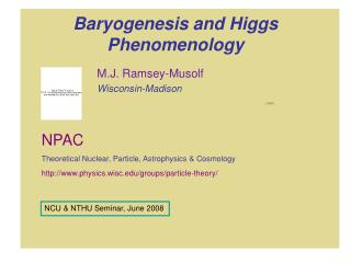 Baryogenesis and Higgs Phenomenology