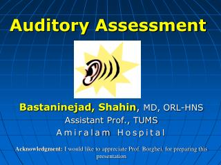 Auditory Assessment